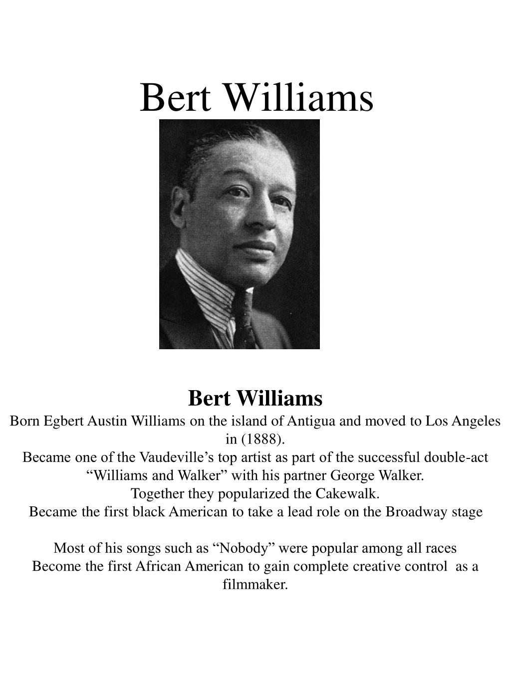 bert williams l.
