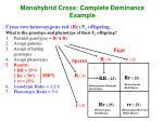 monohybrid cross complete dominance example