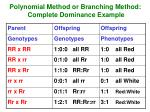 polynomial method or branching method complete dominance example