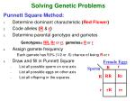 solving genetic problems