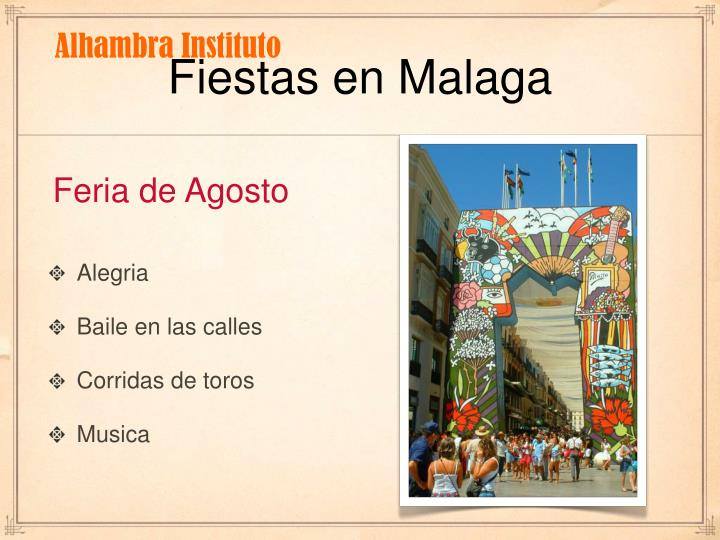 Fiestas en Malaga