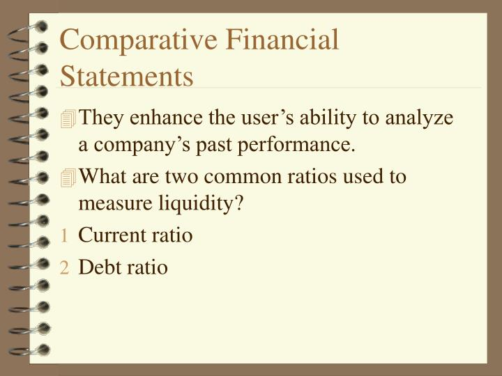 Comparative Financial Statements