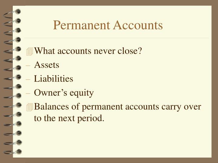 Permanent Accounts