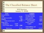 the classified balance sheet1