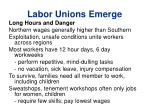 labor unions emerge