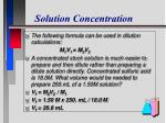 solution concentration10