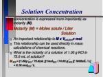 solution concentration9