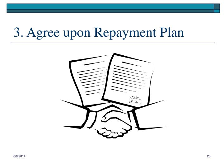 3. Agree upon Repayment Plan
