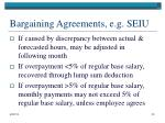 bargaining agreements e g seiu