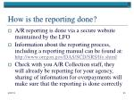 how is the reporting done