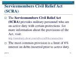 servicemembers civil relief act scra