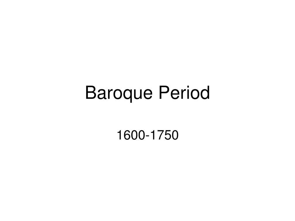 baroque period l.