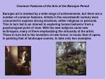 common features of the arts of the baroque period