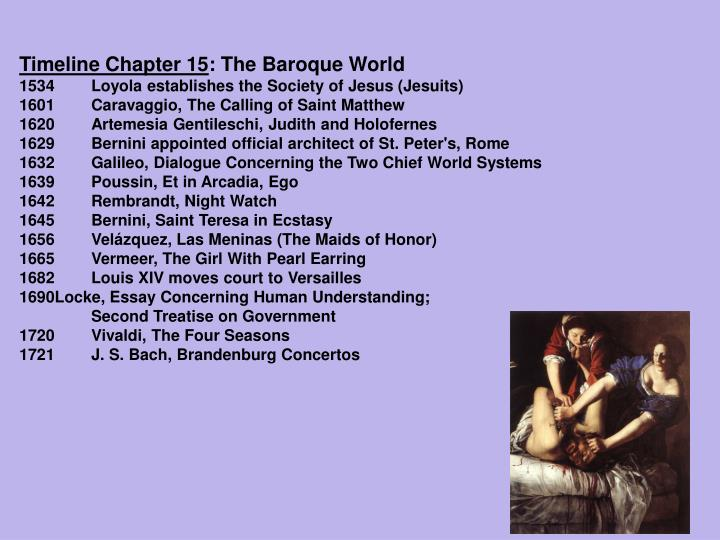 the historical events in the baroque period In the baroque period, some of the important choral forms  the passion is a musical setting of the events at the end of christ's life.