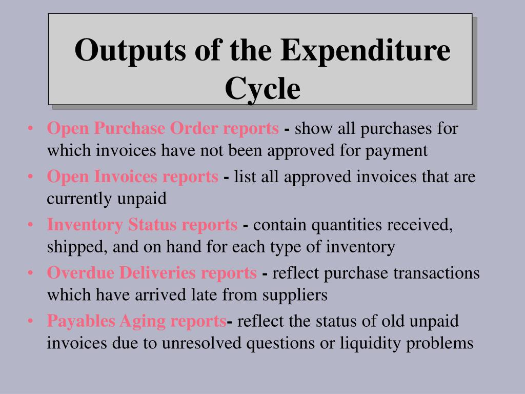 Open Purchase Order reports