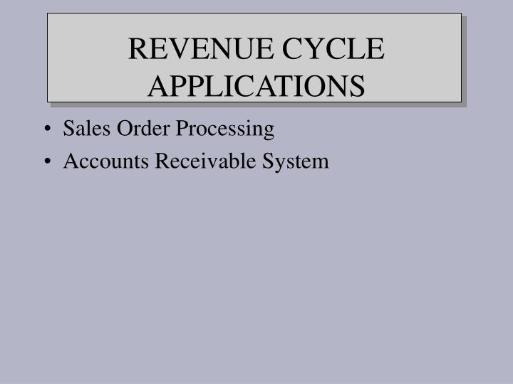 Revenue cycle applications