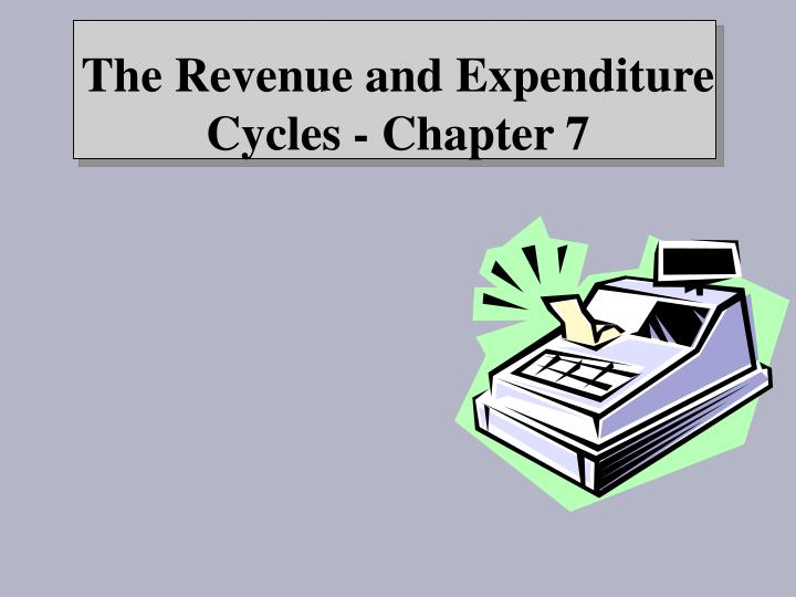 The revenue and expenditure cycles chapter 7