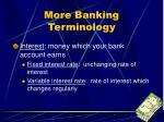 more banking terminology
