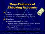 more features of checking accounts