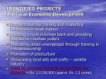 identified projects 2 2 local economic development