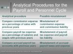 analytical procedures for the payroll and personnel cycle24