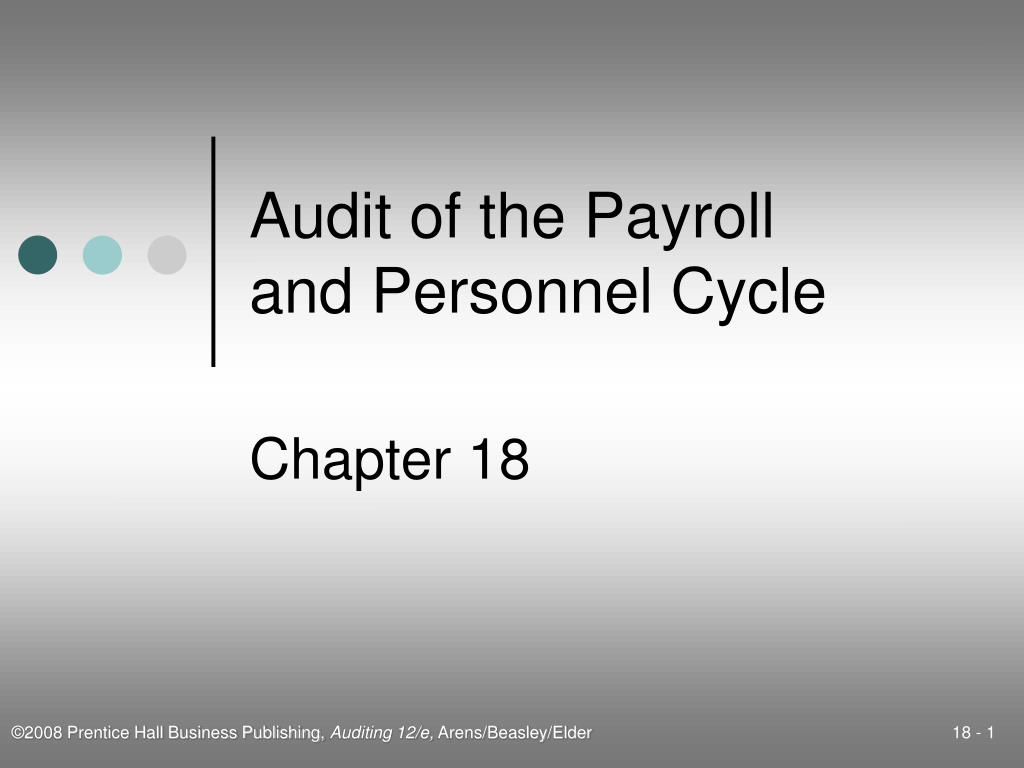 audit of the payroll and personnel cycle l.