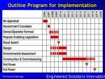 outline program for implementation
