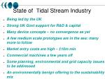state of tidal stream industry