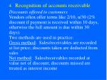 4 recognition of accounts receivable