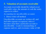 5 valuation of accounts receivable