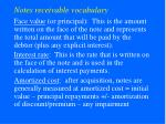 notes receivable vocabulary