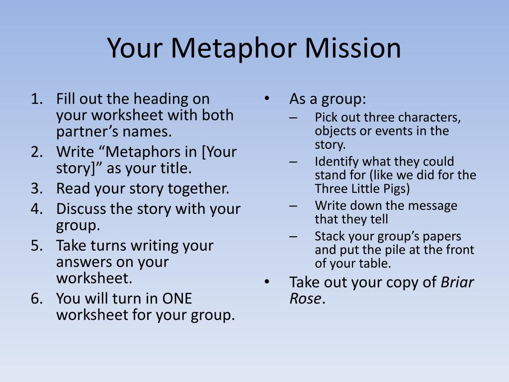 Your Metaphor Mission