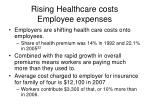rising healthcare costs employee expenses