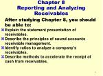 chapter 8 reporting and analyzing receivables4