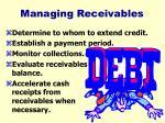 managing receivables