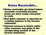 notes receivable41