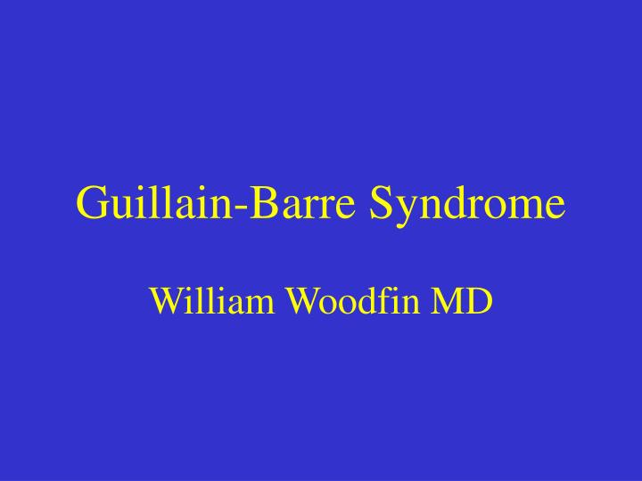 guillain barre syndrome n.