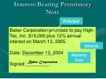 interest bearing promissory note