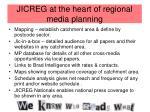 jicreg at the heart of regional media planning