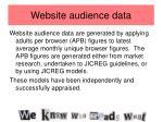 website audience data
