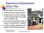 experience enhancement action plan