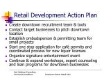 retail development action plan