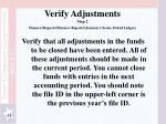 verify adjustments step 2