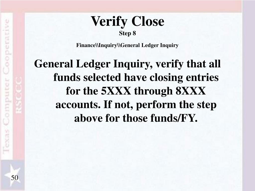 Verify Close