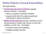 public policies toward externalities