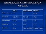emperical classification of dka