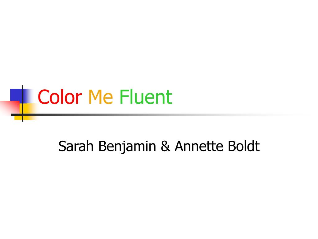 color me fluent l.