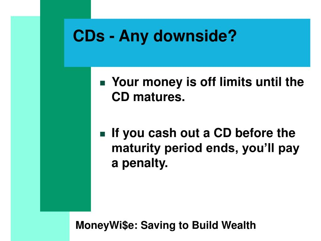 CDs - Any downside?