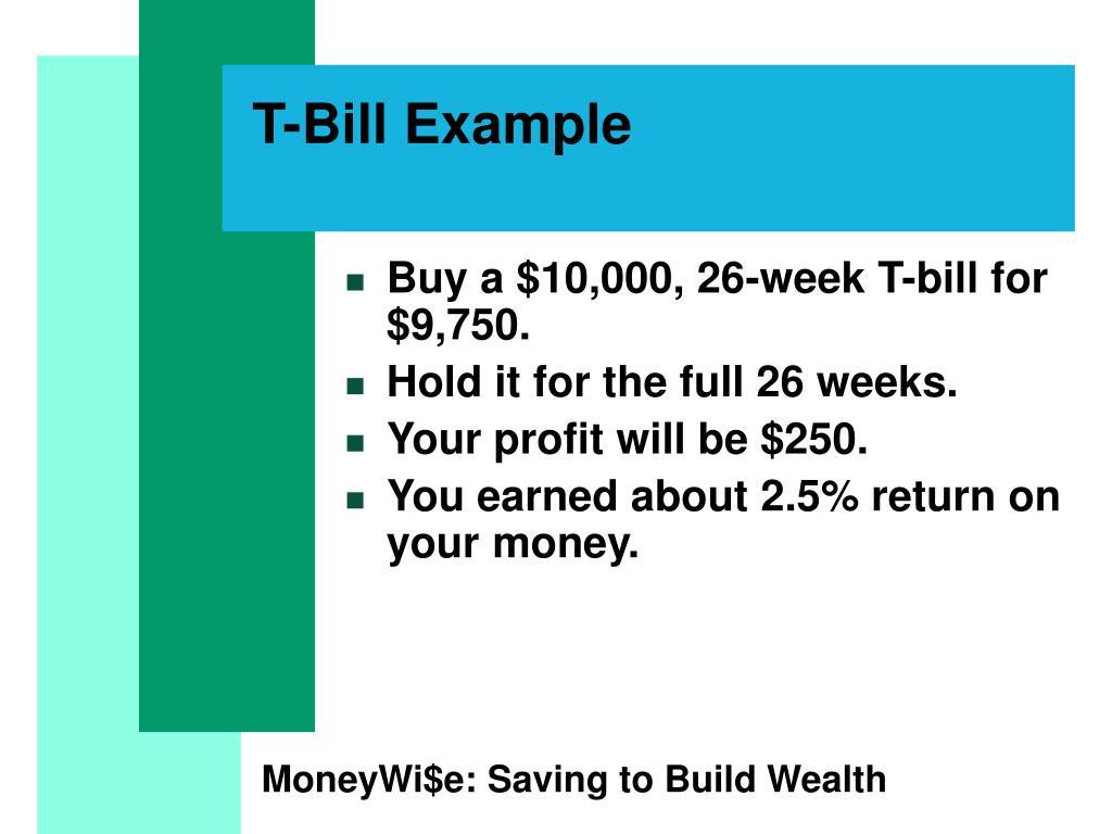 T-Bill Example