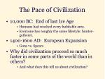 the pace of civilization